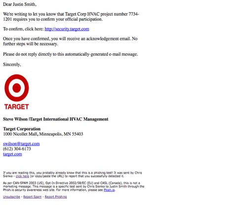 Phishing Attacks On The Retail Industry Phishing Awareness Email Template