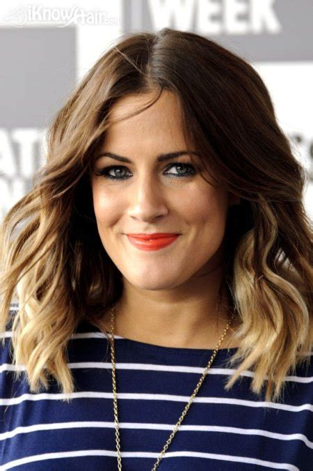 caroline flack dip dyed hair ombre hair trend dark roots light ends ombre