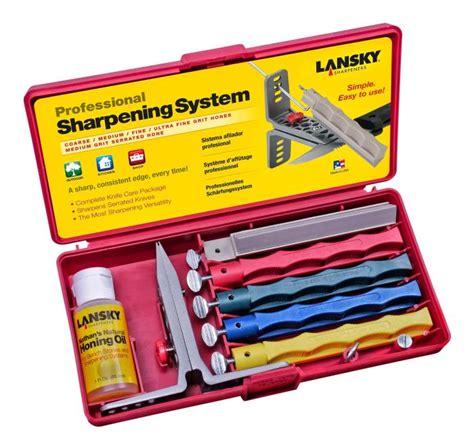 Best Sharpening Stone For Kitchen Knives lansky professional 4 stone knife sharpening kit