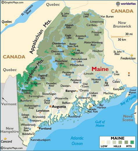 map maine map of maine large color map