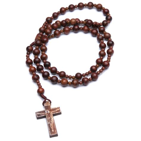 Handcrafted Rosaries - handmade wooden rosary 10 pack lighthouse catholic media
