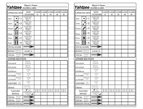 print a yahtzee score sheet hith simple free printable triple yahtzee score sheets