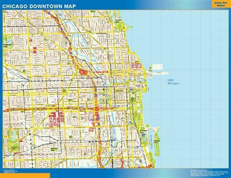 chicago mapa d 243 nde comprar mapa chicago tienda mapas murales en espa 241 a