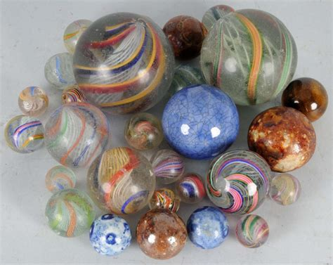 Handcrafted Marbles - lot of 28 german handmade marbles