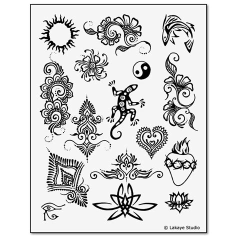 temporary tattoo stencils earth henna premium painting kit temporary tattoos