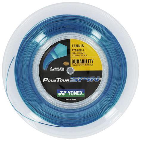 Senar Tenis Yonex Polytour Pro 125 yonex polytour spin 125 200m tennis string reel blue