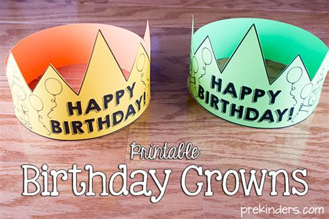 happy birthday crown template birthday crown certificate chart prekinders