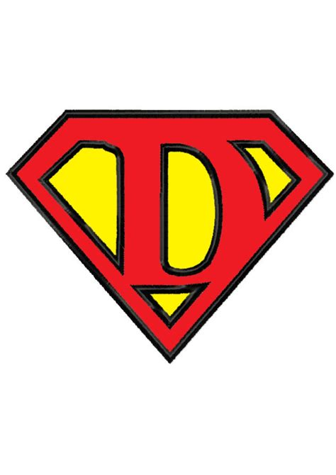 superman logo letter d www imgkid com the image kid