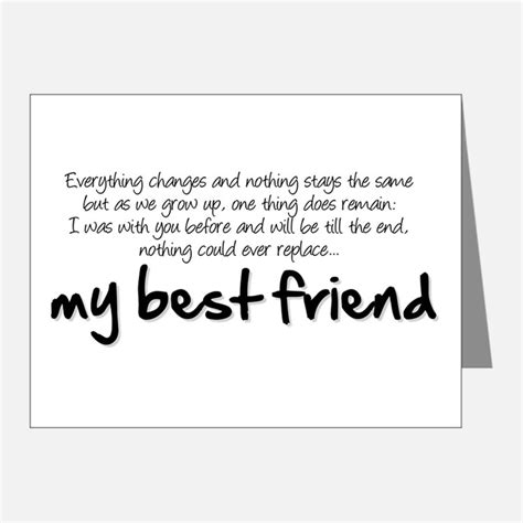 Thank You Letter For Best Friend best friend thank you cards best friend note cards
