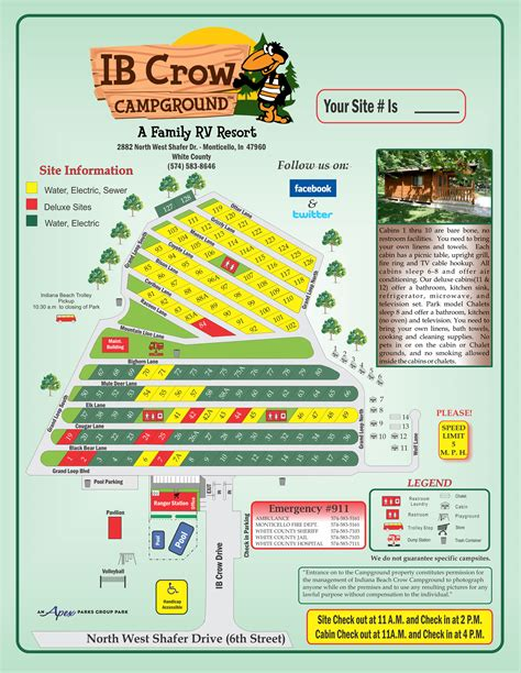 indiana resort map gold csites indiana c resorts