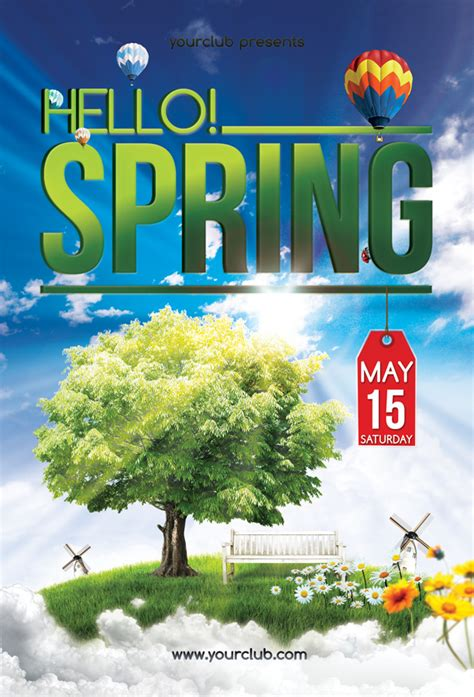hello spring flyer template by isoarts2 on deviantart
