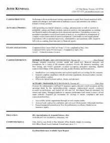 Actuary Resume