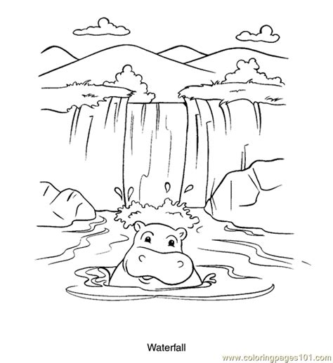 waterfall coloring pages coloring pages waterfall peoples gt others free