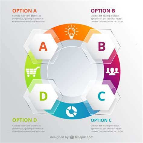 workflow graphics circle infographic for workflow vector free
