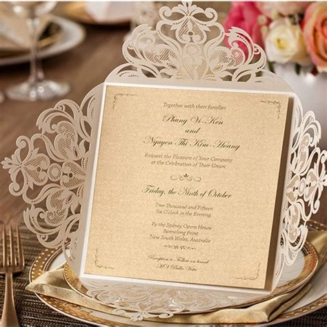 best printer for wedding invitation business high class white laser cut flower wedding invitations with