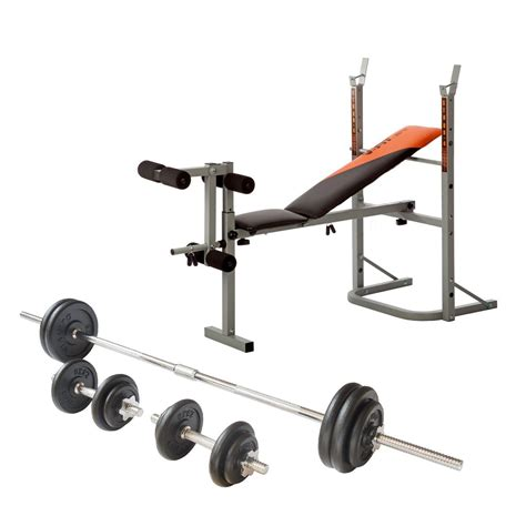 weight bench with weight set v fit stb09 1 folding weight bench with 50kg cast iron