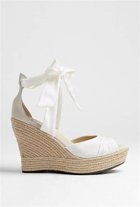 Wedges White Bow white bow wedges uggs you always dress in yellow when