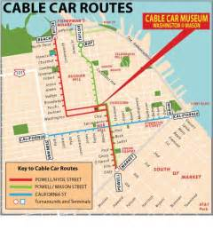 Trolley Map San Francisco by Ride The Cable Cars