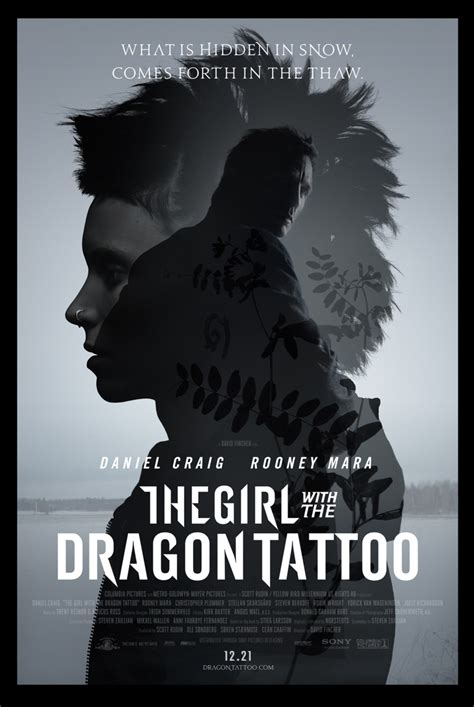 the girl with the dragon tattoo movie the with the poster the with the