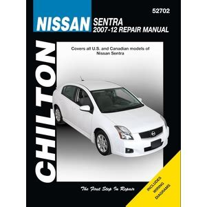 service manual free car repair manuals 2007 nissan maxima electronic valve timing service nissan sentra repair manual by chilton 2007 2012