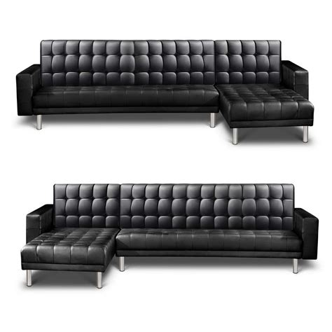 leather chaise sofa bed pu leather sofa bed couch lounges futon suite chaise