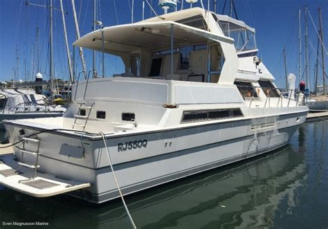 living on a boat for sale vitech 55 yachtfisher for live aboard or coastal cruising