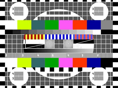 tv test screen stock illustration illustration of gray 9317381