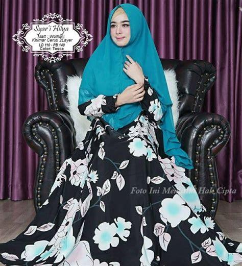 Gamis Sabila By Hilya Moslem baju muslim monalisa hilya syari gamis modern butik jingga