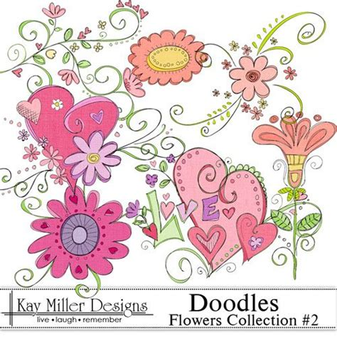 doodle god flowers doodles embroidery pattern 그림