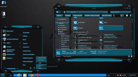 windows xp themes for windows 8 1 windows 8 1 theme blue aziz by newthemes on deviantart