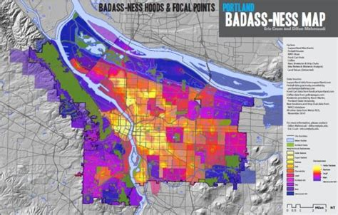 crime map portland oregon in portland badass is as the badass map says it is