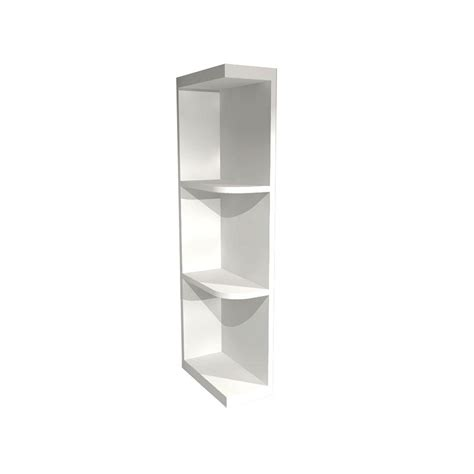 kitchen cabinet end shelf home decorators collection pacific white assembled 6x36x12