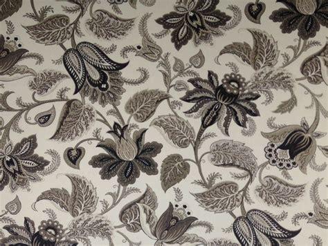 jacobean upholstery fabric richloom briswell ebony jacobean floral vine drapery