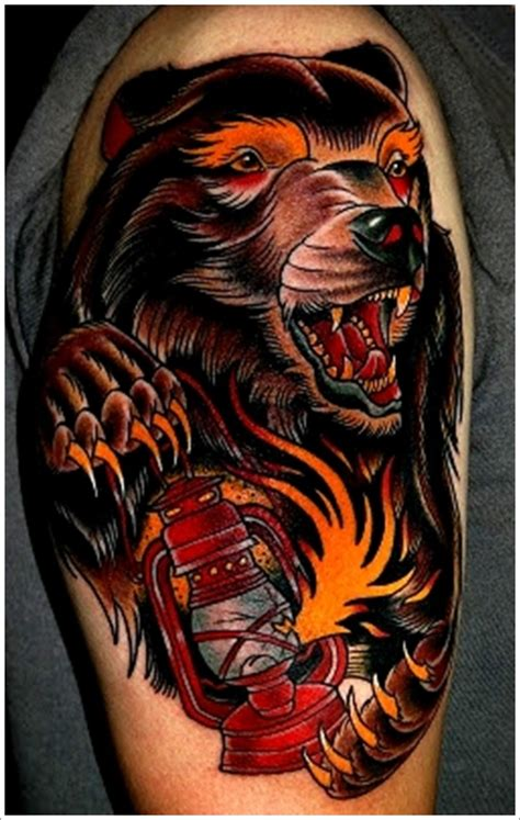 tattoo old school bear 33 dise 241 os de tatuajes de osos