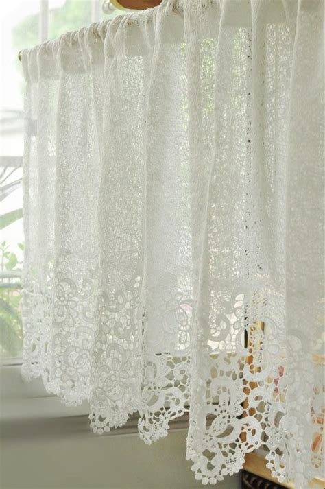 soluble reticulocyte lace beautiful coffee curtain short