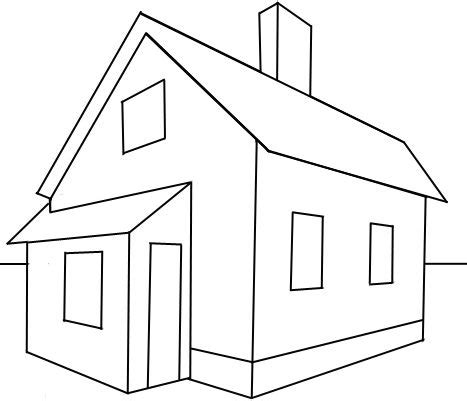 home drawing how to draw a house in 2 point perspective with easy step