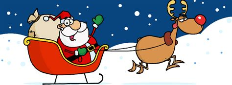 animated photos of christmas santa claus with reindeer timeline cover jinglebell junction