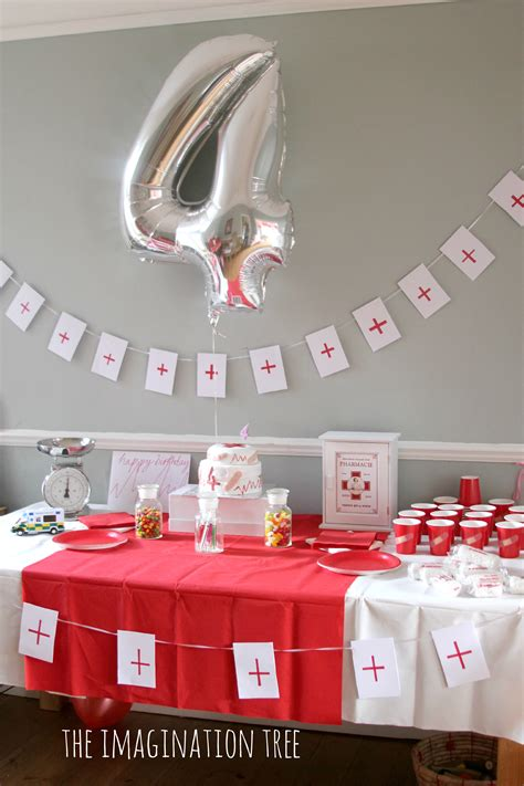Center Table Decoration Home by Doctor Themed Birthday Party Ideas And Games The