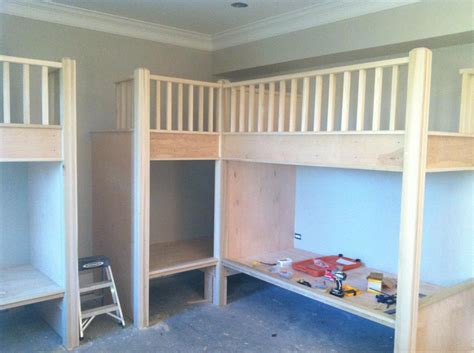 built in bunk bed built in bunk beds carpentry picture post contractor talk