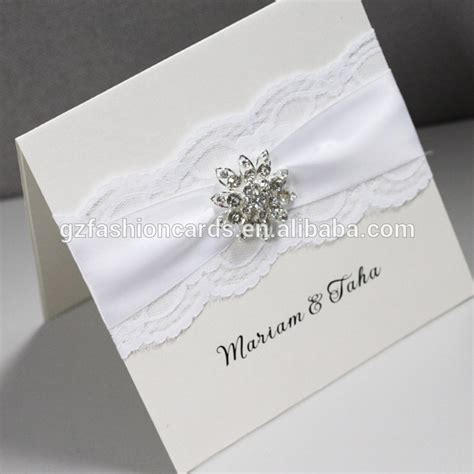 Handmade Wedding Card Designs - luxury lace handmade wedding invitation card designs buy