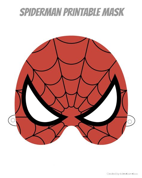 printable spider mask template free printable hero masks pinteres