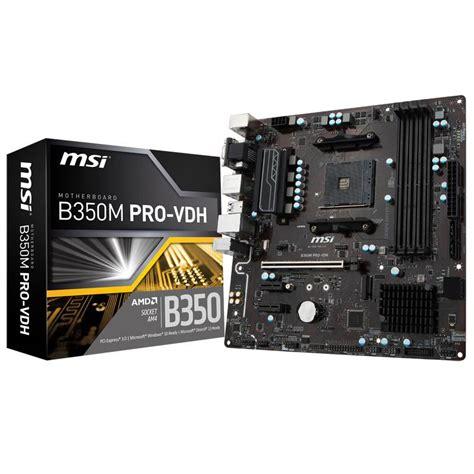 Best Buy Msi B350m Pro Vdh Socket Am4 Ddr4 1 msi b350m pro vdh am4 micro atx motherboard b350m pro vdh mwave au
