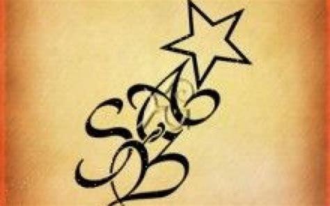 lettere stilizzate per tatuaggi bellezza 3 composizioni grafiche con stelle e lettere