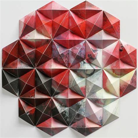 Paper Folding Geometry - matthew shlian american paper engineer and his geometric