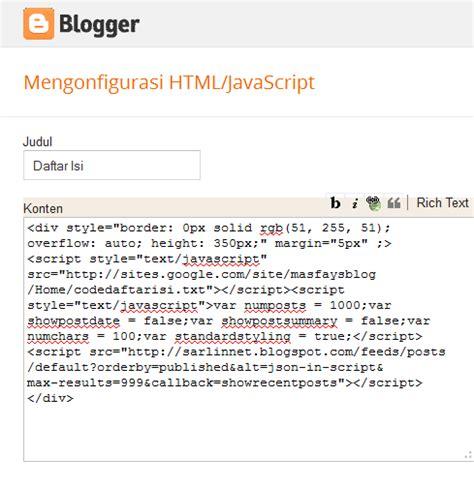 jelaskan tahapan dalam membuat daftar isi catatan hardan cara membuat daftar isi di blog