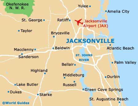 jacksonville fl map jacksonville travel guide and tourist information