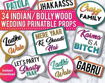 Props Photobooth Birthday Wedding Or Other Seri Say Box 3 indian photo booth etsy