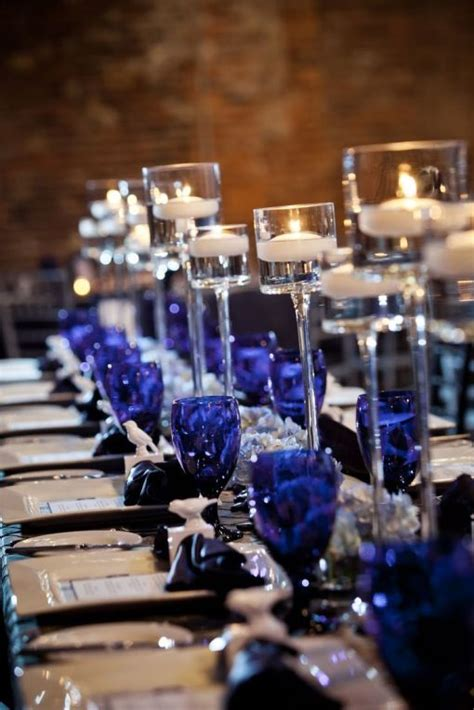 beautiful navy blue wedding decorations  inspire