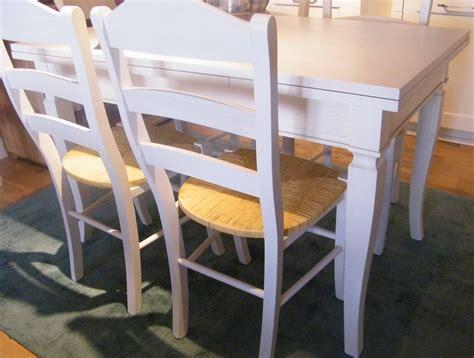tavolo da cucina in legno tavolo allungabile completo di 4 sedie shabby chic