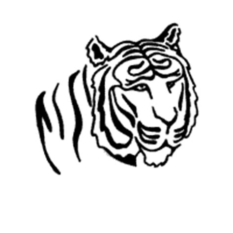 tiger head coloring pages